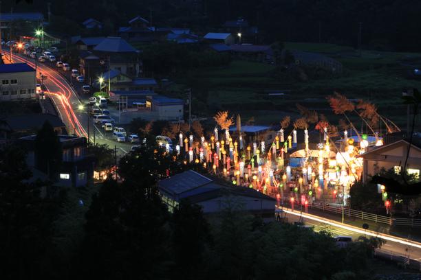 下分七夕飾り 山からの眺め 7月