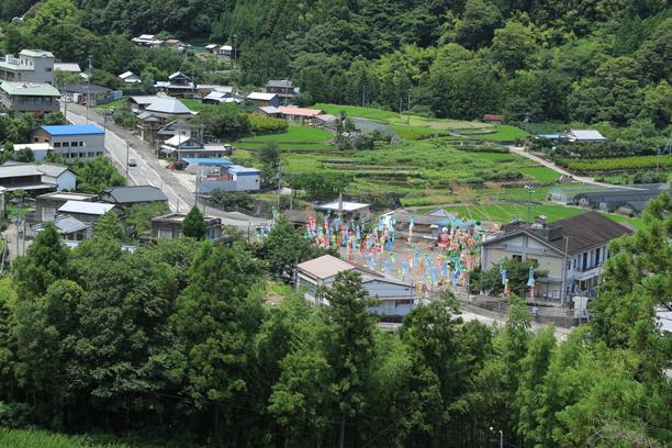 下分七夕飾り 山からの眺め② 7月